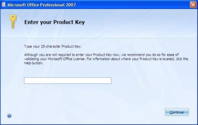 Free Microsoft Office 2007 Product Key for You