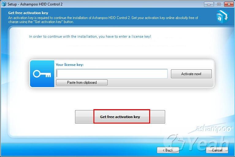 Ashampoo HDD Control key
