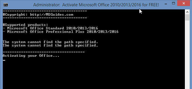 office activate command line