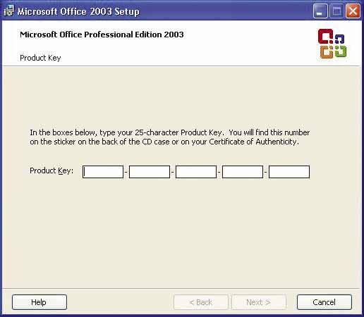 Microsoft Office 2003 Product Key Free for You