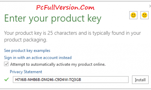 enter your product key microsoft office 2016 free