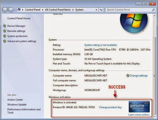 Windows 7 Product Key Free 2019