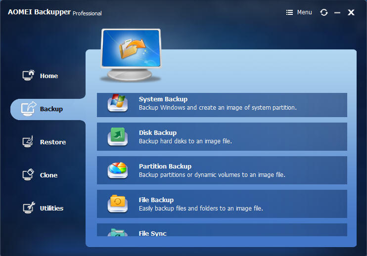 AOMEI Backupper Professional 4.6.3 Key Free 2019