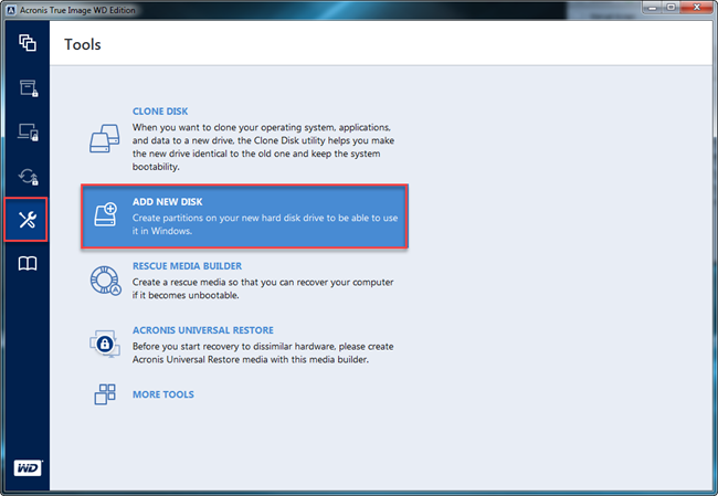 Acronis True Image for WD hard drive