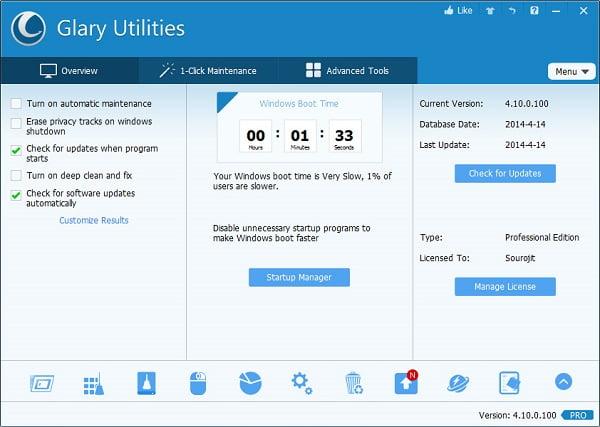 Glary Utilities Pro 5 Key Free 2019