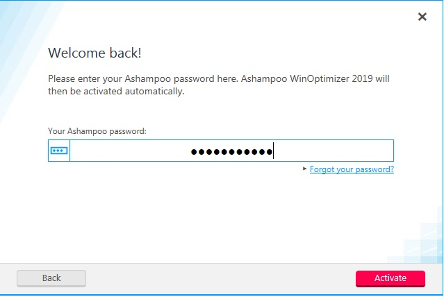 password ashampoo