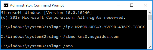 Activate your Windows using ato command