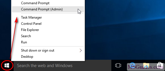 Open command prompt with admin rights