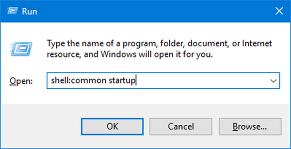 Windows 10 startup folder location
