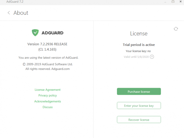 Adguard Premium v7.2.2936 License Key Giveaway for PC 2019