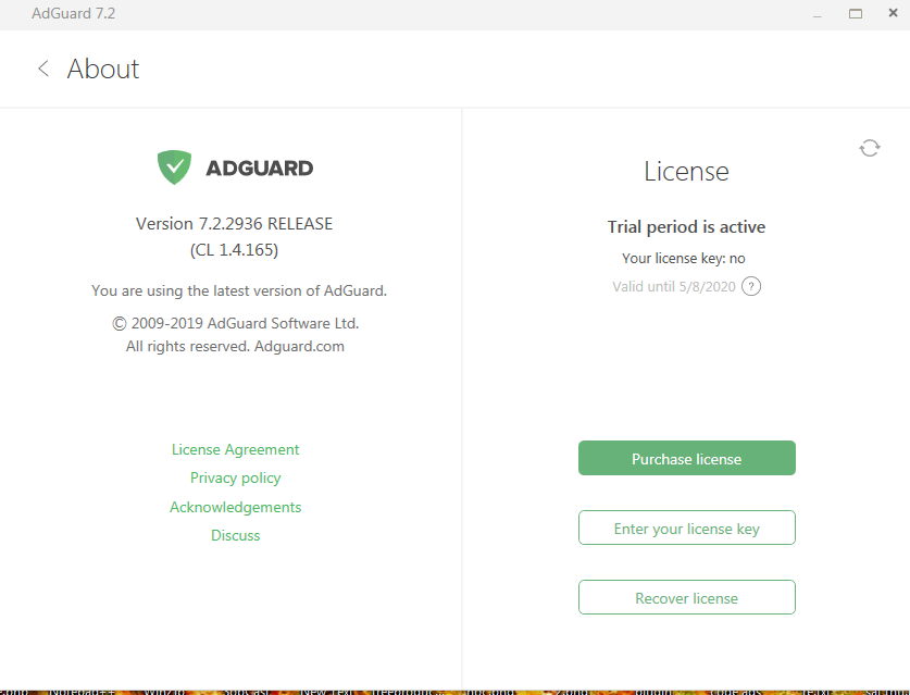 Adguard Premium v7.2.2936 License Key Giveaway for PC 2019