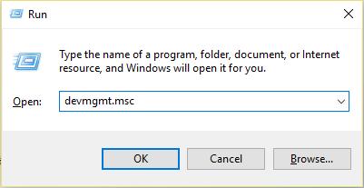 Press Windows Key + R then type devmgmt.msc and hit Enter