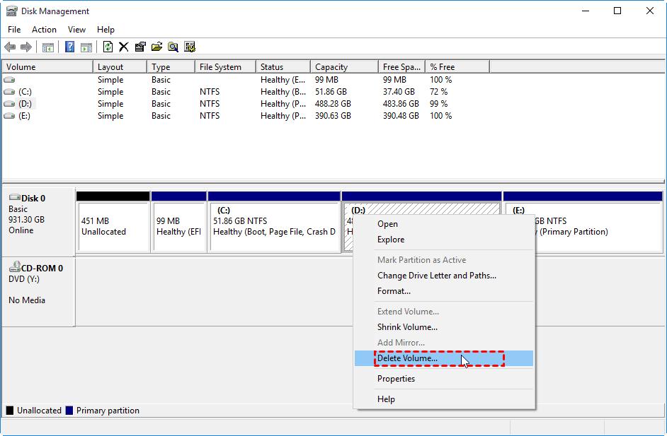 Cómo extender la partición con espacio no asignado en Windows PC 11