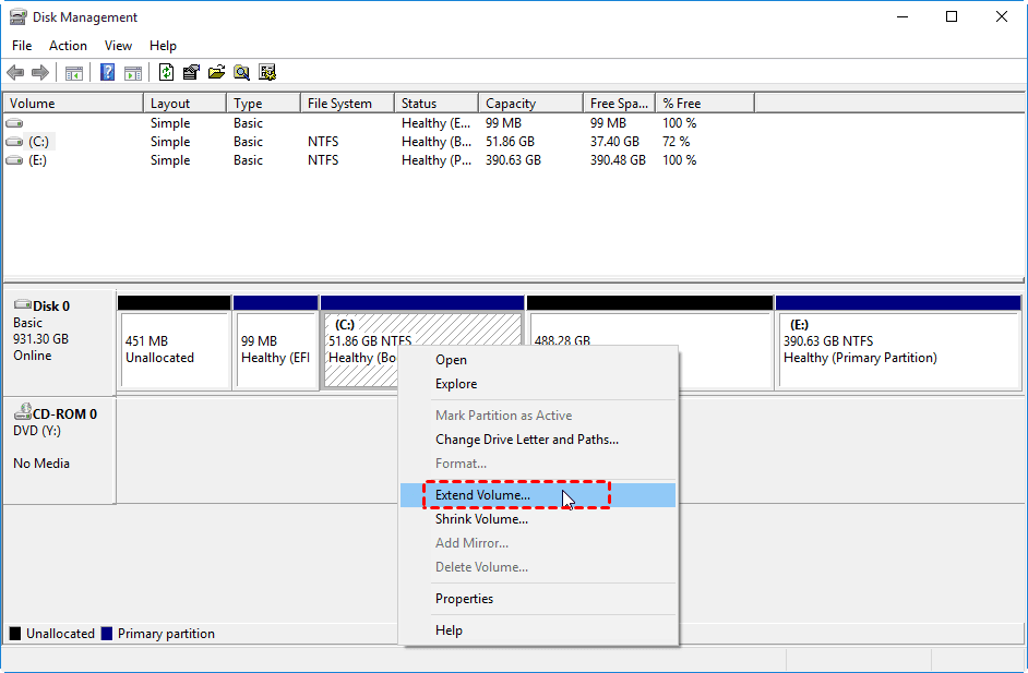 How to Extend Partition with Unallocated Space in Windows PC 13