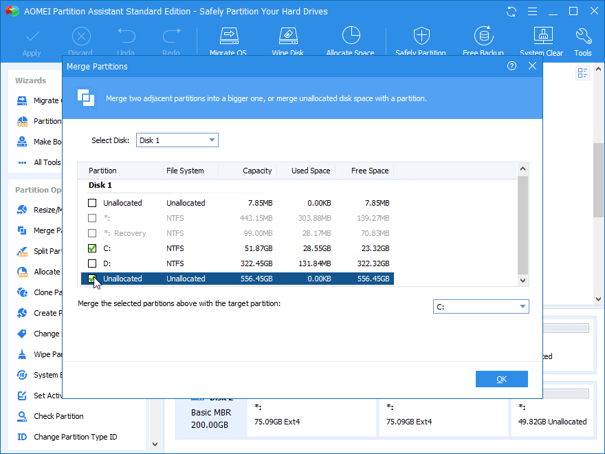 Cómo extender la partición con espacio no asignado en PC con Windows 22