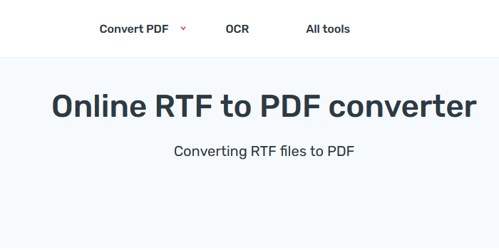 Best 3 Online Converters to Convert RTF to PDF