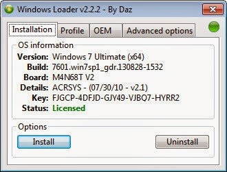 Download Windows Loader v2.2.2 by Dar to Activate Your Windows